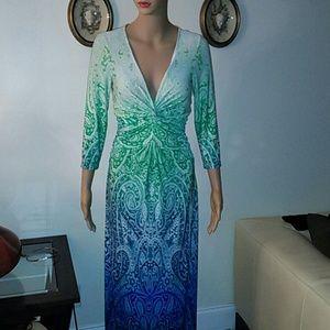 Boston Proper colorful dress, size 4